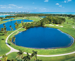 GPS technology helped Crandon Golf at Key Biscayne determine which areas were ideal for turf removal. (photo previous page courtesy of Crandon Golf at Key Biscayne)