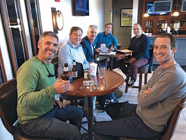Kasey Kauff, Trinity Forest GC, Donald Cross, CGCS, Skokie CC, Brian Bossert, CGCS, Bryn Mawr CC, Brian Moore, Glen View Club, Drew Barnett, Knollwood Club, and Charlie Aubry, East Lake GC (Photo: Golfdom Staff)