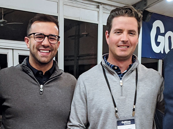 Christopher Benevides and Kevin Banks (Photo: Golfdom Staff)