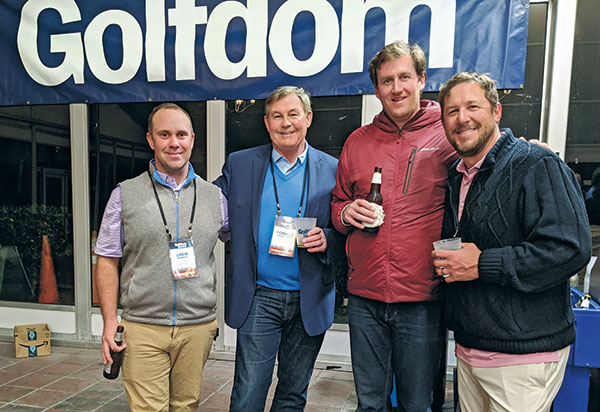 Drew Barnett, Donald Cross, Brian Moore, Steve Sarro (Photo: Golfdom Staff)
