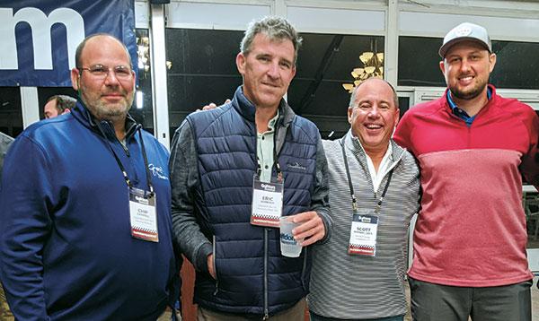 Chip Caswell, Eric Johnson, Scott Ramsey, Nate Bolhous (Photo: Golfdom Staff)