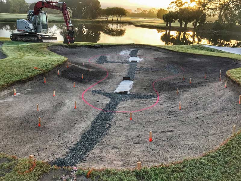 The team at Hawk's Landing, with the assistance of Bobby Cupp Jr., reduced the a total square feet of bunkers by 12,634 during the renovation. (Photo: Joshua Kelley)