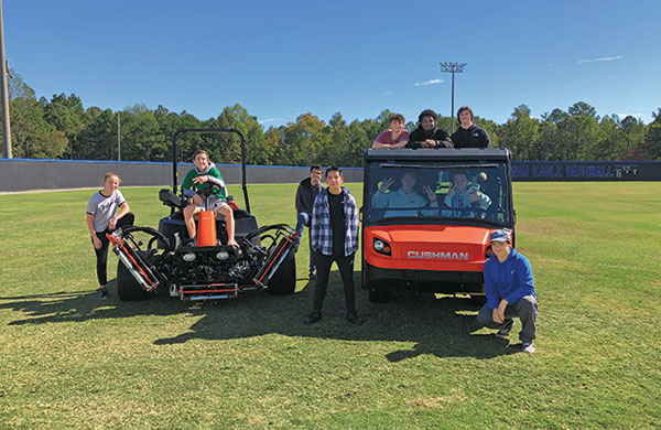 South Forsyth High School turfgrass students (Photo: Russ Bayer)