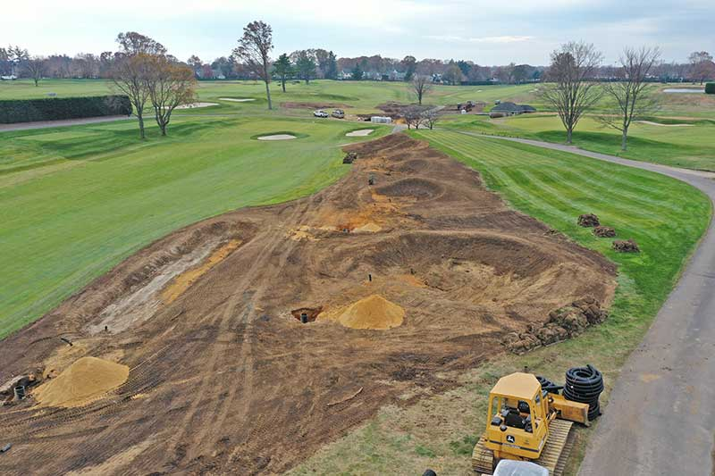 A look at the rough shape of the bunkers on Cherry Valley's No. 6 hole. (Photo: Chris Caporicci)