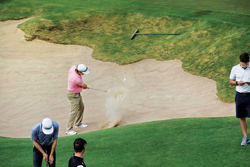 Erin Hills' bunkers tested pros at the '17 U.S. Open, as players posted the lowest percentage of recovery shots of any tournament that year. (Photo: Golfdom staff)