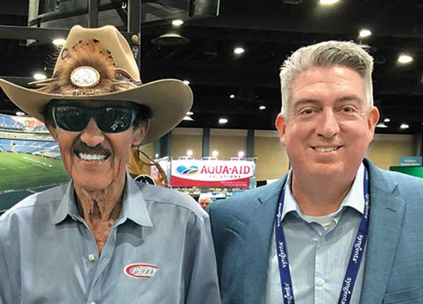 Golfdom Editor-in- Chief Seth Jones and Richard Petty (Photo: Golfdom Staff)