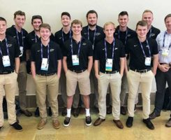 Cale Bigelow, Ph.D., (far right) and students from Purdue University (Photo: Golfdom Staff)