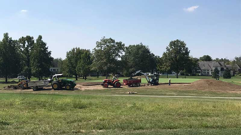Also, Chase Walden says you should expect some turf damage if your course is undergoing major renovation work from all the heavy equipment needed to get the job done. (Photo: Chase Walden)