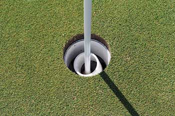 """Superintendents have devised different ways to make the greens """"hands free."""" (Photo: Golfdom Staff)"""