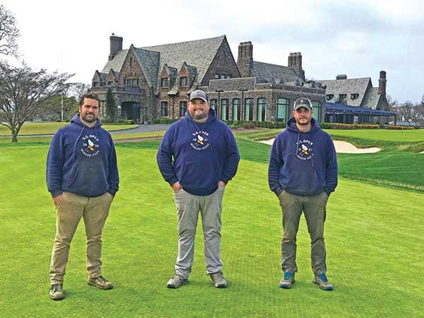 Steven Bigelow, Weston Neff and JR Lapan (Photo: Winged Foot GC)