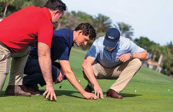 Pictured here: Cole Thompson, Zach Nicoludis, Paul Jacobs. (Photo courtesy of the USGA)
