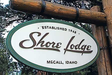 Shore Lodge sign (Photo: Golfdom Staff)