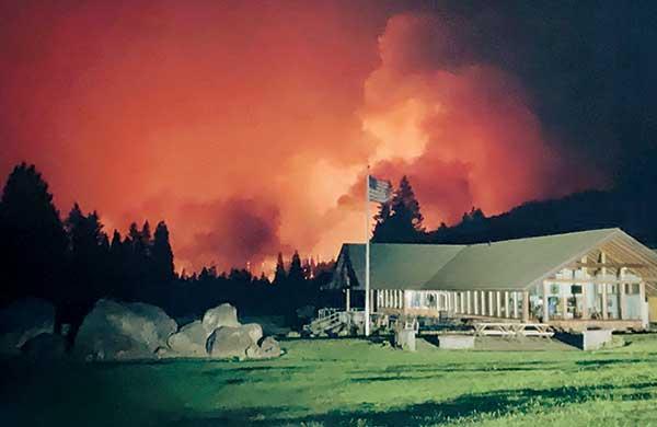 Wildfire near Tokatee GC (Photo: Sean Tully)