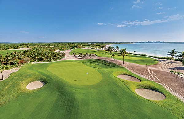 The Abaco Club in the Bahamas tries to order an entire year's worth of products through early order programs. Pictured here are the club's fifth and sixth greens. (Photo: The Abaco Club)