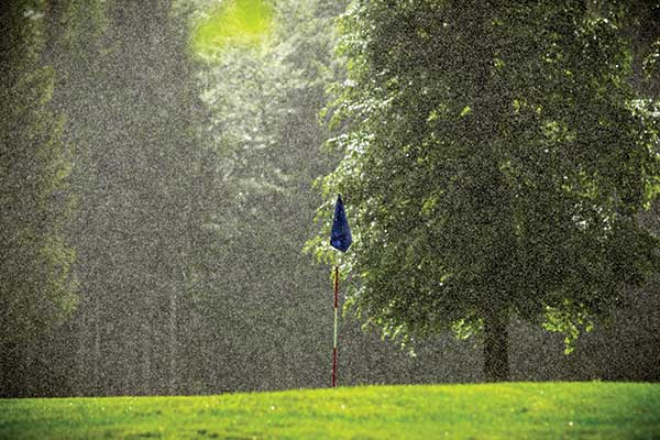 rain on golf course (Photo by: Anze Furlan–psgtproductions / istock– getty images plus / Getty images)