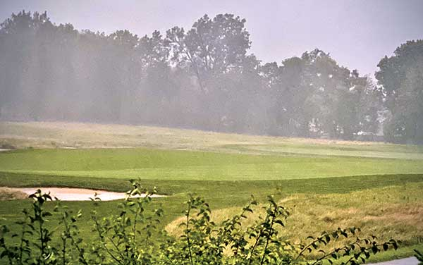 Rain on golf course (Photo by: Michael Watz / istock–getty images plus / getty images)