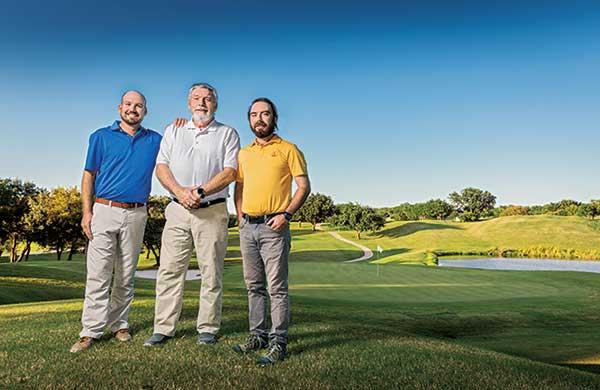 Travis, Jim and Andrew Moore (Photo: Jeff Wilson)