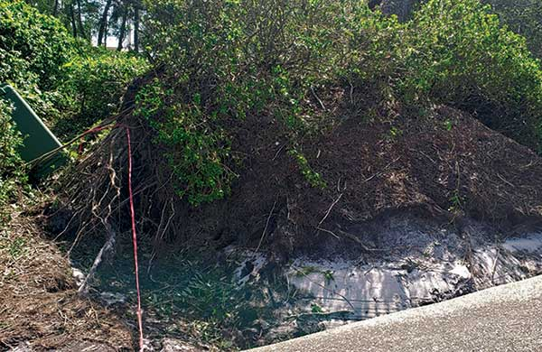 Damage from Hurricane Sally (Photo: Jamey Davis, Peninsula GC)