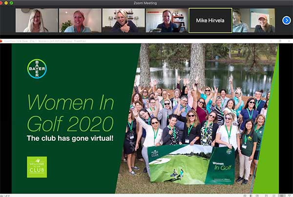 Women in Golf virtual event (Screencap: Golfdom Staff)