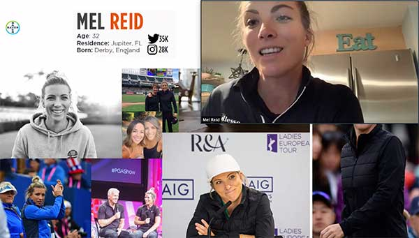 Day 1 of Women in Golf featured special guest speaker Mel Reid. (Screencap: Golfdom Staff)