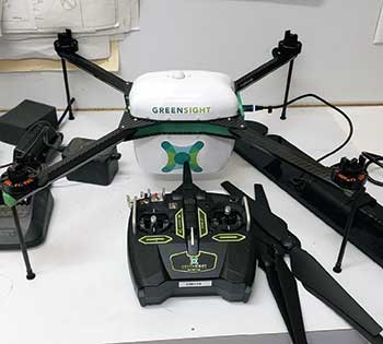 GreenSight's drone records images and downloads them to TurfCloud's platform, which the team can access anywhere at any time. (Photo: Kevin Hauschel)