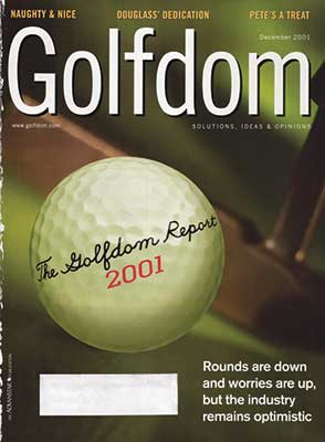 December 2001 cover (Photo: Golfdom archives)