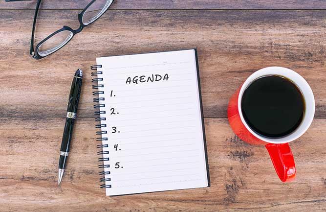 Meeting agenda (Photo: Cn0ra / iStock / Getty Images Plus)