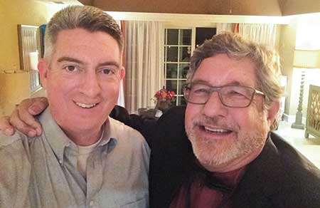 Jones with his superintendent dad, David Hay, CGCS, at a past Golfdom Summit. (Photo: Golfdom Staff)