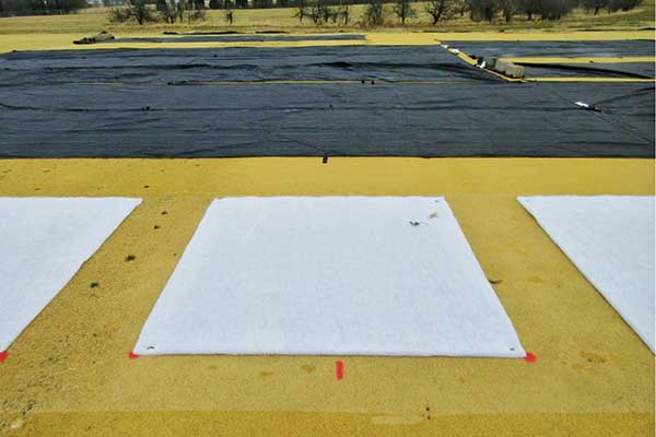 Example batting material treatments before placing the cover. (Photo: Mike Richardson, Ph.D.)