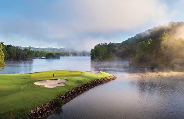 No. 17, The Cliffs at Keowee Vineyards Lake Course, Salem, S.C. Chad Prest, Director of Agronomy. (Photo courtesy of The Cliffs)