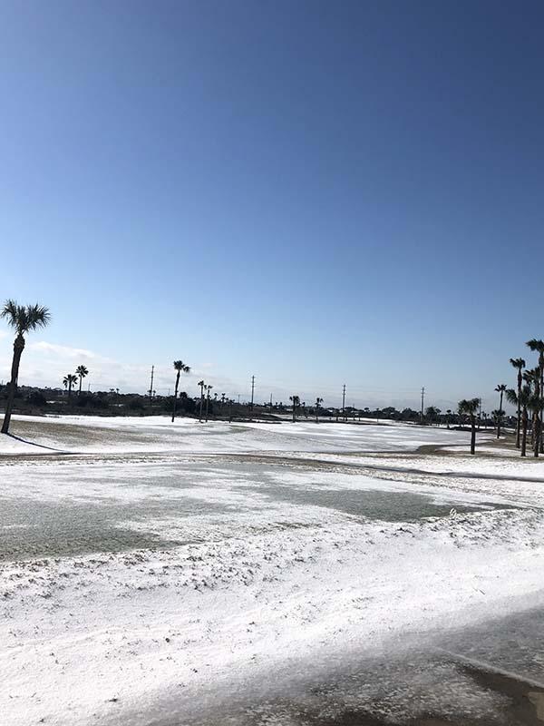 Galveston CC after Winter Storm Uri on Feb. 16, 2021. (Photo: Jeff Smelser)