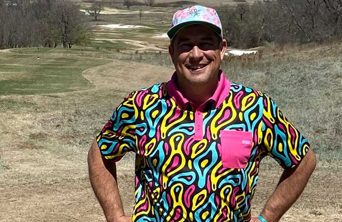 Photo: David Jones at Oklahoma golf course