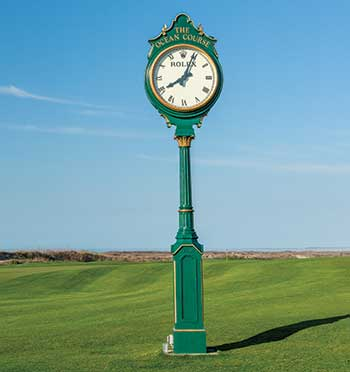Clock at The Ocean Course (Photo: Stacy Howell)