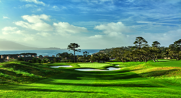 The 2nd hole at The Hay is an exact replica of Pebble Beach Golf Links' 7th hole. (Photo courtesy of Martin Miller)