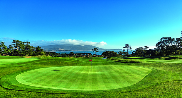 Hole #9 honoring Tiger Woods win at the 100th U.S. Open Championship at Pebble Beach. (Photo courtesy of Martin Miller)
