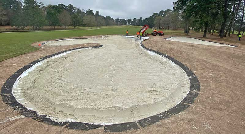 Zline bunker system installation at Tour 18 Golf Course in Humble, Texas (Photo: Todd Stephens)