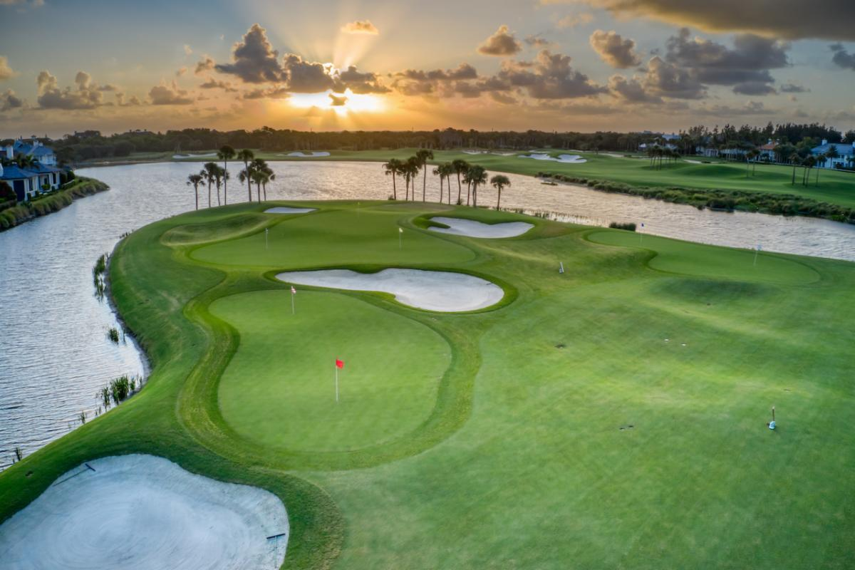 The recently renovated, expanded practice facility at The Windsor Club in Vero Beach, Fla. (Photo: Jorge Huerta Photography) Photo: