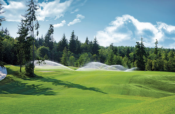 Irrigation system on golf course (Photo: Hunter Industries)