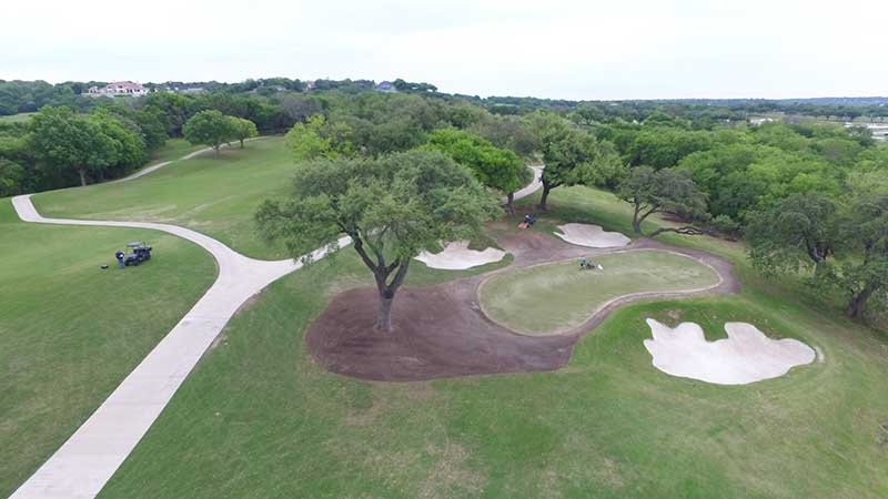 Areas of concentrated traffic, shade and north-facing slopes really took a beating this spring. However, once repaired this green surround and approach will be much better than before the damage occurred. (Photo: Jim Moore)