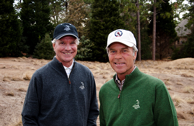 Ben Crenshaw (right) and Bill Coore(left), ASGCA, will be the 2021 recipients of the ASGCA Donald Ross Award. (Photo courtesy of ASGCA)