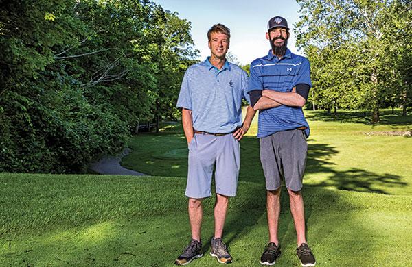 (Left) Brian Burke, superintendent at Sycamore Creek CC, Springboro, Ohio, alongside Zach Ferone, second assistant superintendent. (Photo: Matthew Allen)