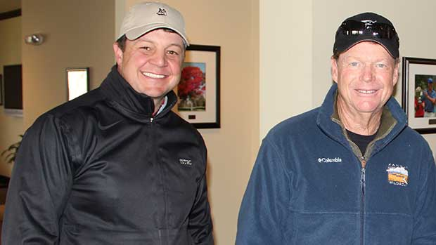 Todd Bohn with World Golf Hall of Fame member Tom Watson. (Photo: Golfdom Staff)
