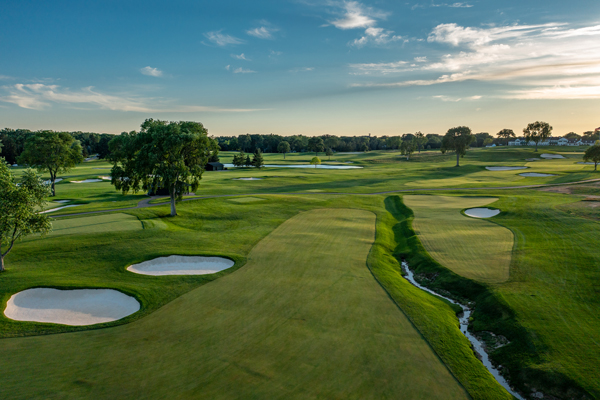 Hole No. 7 at Oakland Hills South Course. (Photo courtesy of Larry Lambrecht)