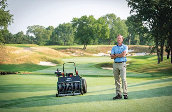 Jeff Johnson, superintendent of Minneapolis, Minn.'s The Minikahda Club, chose to regrass his course to reduce disease pressure. (Photo: Jamey Guy Photography)