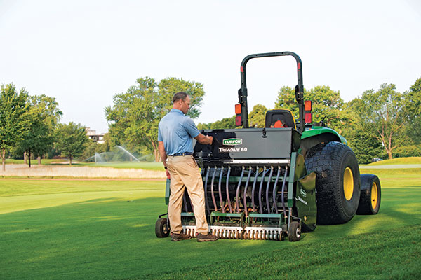 Johnson said it was nice to have Turfco nearby to lean on for advice on details such as proper application depth. (Photo: Jamey Guy Photography)