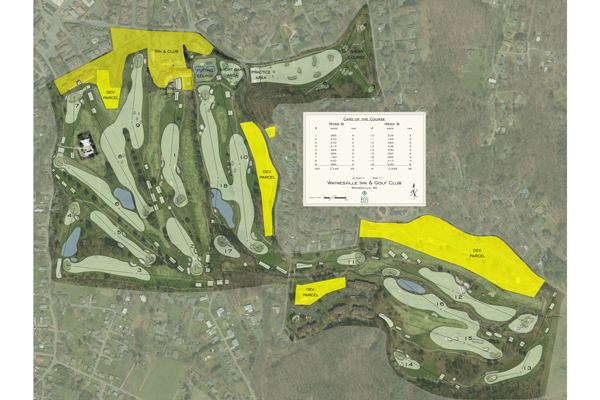 The master plan for the course that will be undergoing renovations beginning this summer that will last between 16-24 months. (Photo courtesy of Waynesville Golf Club)