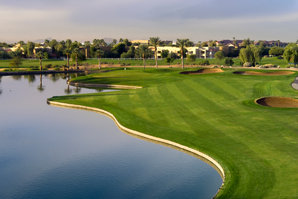 Hole No. 18 at Palm Valley Golf Club. (Photo courtesy of Arcis Golf)