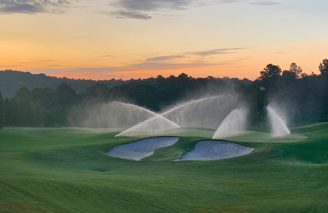Hole No. 10 at sunrise at Windermere GC. (Photo courtesy of Tommy Hewit)