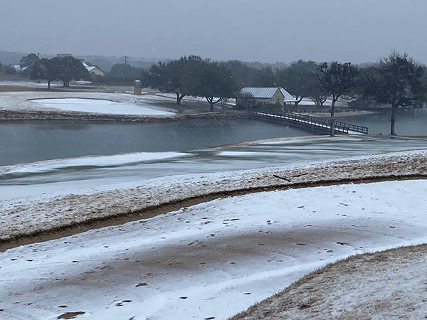 Vaaler Creek CC in the Texas Hill Country got 12 inches of snow in February (Photo: Vaaler Creek).