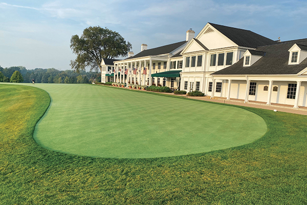 Oakland Hills CC in Bloomfield, Mich. The new greens feature 007/777 and fairways and tees seeded to 007/Flagstick bentgrasses. (Photo Courtesy: Richard Hurley)